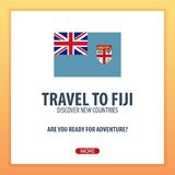 Travel to Fiji. Discover and explore new countries. Adventure trip. Royalty Free Stock Photography