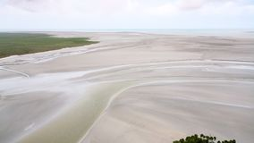 tidal bay around Le Mont Saint-Michel island Royalty Free Stock Photos