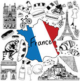 Travel to France doodle drawing icon. Royalty Free Stock Image