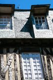 Medieval half-timbered house in Vitre town. Travel to France - facade of medieval half-timbered house in Vitre town in Ille-et-Vilaine department of Brittany in Royalty Free Stock Photography