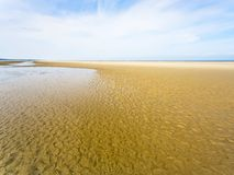 view of sand beach of Le Touquet in low tide Royalty Free Stock Photo