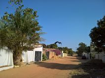 Travel to Gambia. Village in Gambia visited 2018 royalty free stock images