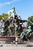 Neptune Fountain in Berlin city Royalty Free Stock Photography