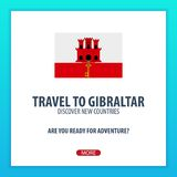 Travel to Gibraltar. Discover and explore new countries. Adventure trip. Stock Images