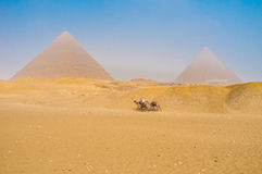 The travel to Giza Royalty Free Stock Images
