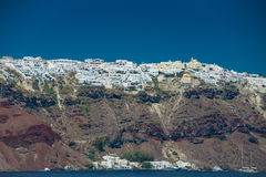 Travel to Greece. Beautiful  Santorini. Architecture of island of Santorini, the most romantic island in the world, Greece. Hotels in Santorini. Walking the Stock Image
