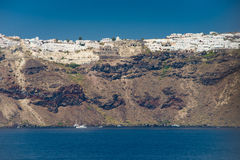 Travel to Greece. Beautiful  Santorini. Architecture of island of Santorini, the most romantic island in the world, Greece. Hotels in Santorini. Walking the Royalty Free Stock Photos