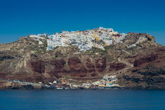 Travel to Greece. Beautiful  Santorini. Architecture of island of Santorini, the most romantic island in the world, Greece. Hotels in Santorini. Walking the Royalty Free Stock Photo