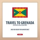 Travel to Grenada. Discover and explore new countries. Adventure trip. Royalty Free Stock Photos