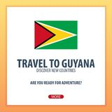 Travel to Guyana. Discover and explore new countries. Adventure trip. Royalty Free Stock Image