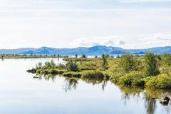 Coast of Thingvallavatn Lake in Thingvellir park Royalty Free Stock Image