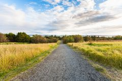 dirt road in the vicinity of Reykjavik city royalty free stock images
