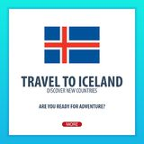 Travel to Iceland. Discover and explore new countries. Adventure trip. Royalty Free Stock Photos