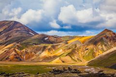 Travel to Iceland in the July stock photo