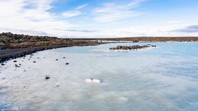 View of Blue Lagoon Geothermal lake in Iceland Royalty Free Stock Photography