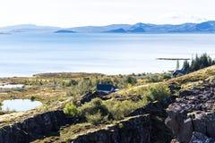 View of Thingvallavatn lake in Thingvellir park Stock Image