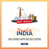 Travel to India Travel Template Banners for Social Media. Hot Deals. Best Offers. Stock Photos