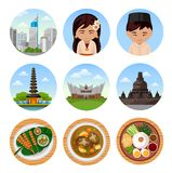 Travel to Indonesia. royalty free illustration