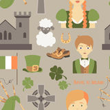 Travel to Ireland pattern Royalty Free Stock Photography