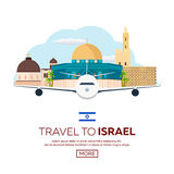 Travel to Israel, Jerusalem Poster skyline. Wailing wall. Vector illustration. Travel to Israel, Jerusalem Poster skyline. Wailing wall. Vector illustration Stock Photography