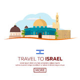 Travel to Israel, Jerusalem Poster skyline. Wailing wall. Vector illustration. Travel to Israel, Jerusalem Poster skyline. Wailing wall. Vector illustration Stock Photo