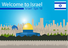 Travel to Israel. Travel to Israel, Vector illustration Royalty Free Stock Photos