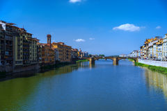 Travel to Italy - Arno River with Ponte alla Carraia bridge in Florence city Royalty Free Stock Image