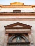 Portal of Monastero San Benedetto in Bergamo. Travel to Italy - portal of Monastero San Benedetto Monastery of the Benedictine Nuns of San Benedetto on street royalty free stock photo