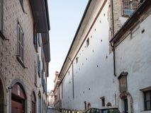 Street Via Sant`Alessandro near Monastery, Bergamo. Travel to Italy - street Via Sant`Alessandro near Monastero San Benedetto Monastery of the Benedictine Nuns royalty free stock image
