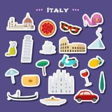 Travel to Italy vector icons set Royalty Free Stock Image