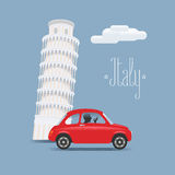 Travel to Italy vector illustration. Design element with Italian Pisa Royalty Free Stock Photos