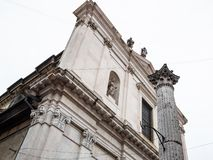 View of Basilica di Sant'Alessandro in Colonna. Travel to Italy - view of church Basilica di Sant'Alessandro in Colonna on street Via Sant'Alessandro in Lower stock images