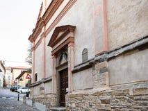 Wall of Monastero San Benedetto in Bergamo. Travel to Italy - wall of Monastero San Benedetto Monastery of the Benedictine Nuns of San Benedetto on street Via stock photo