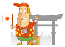 Travel to Japan. Abe The Tourist - Travel to Japan Stock Image