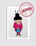 Travel to Japan royalty free illustration