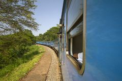 Travel by traun sri Lanka Stock Photo