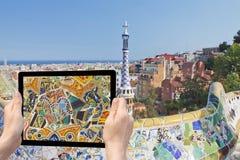 Travel to landmarks of Barcelona (Catalunya) Royalty Free Stock Images
