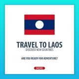 Travel to Laos. Discover and explore new countries. Adventure trip. Stock Images