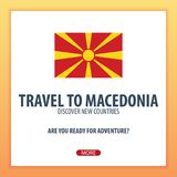 Travel to Macedonia. Discover and explore new countries. Adventure trip. Stock Photos