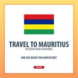 Travel to Mauritius. Discover and explore new countries. Adventure trip. Royalty Free Stock Images