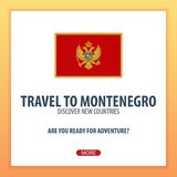 Travel to Montenegro. Discover and explore new countries. Adventure trip. Stock Photos