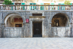 Travel to Montenegro. Medieval buildings and squares in the ancient city Kotor. Royalty Free Stock Image
