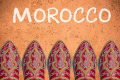 Travel to Morocco background or mock up.  Stock Image