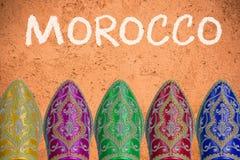 Travel to Morocco header concept.  Royalty Free Stock Photos
