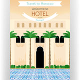 Travel to Morocco poster template. Stock Image