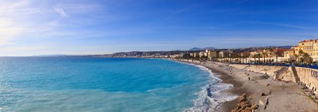 Travel to Nice. Promenade des Anglais. Promenade des Anglais, Nice`s most famous boulevard, is one of the first things to explore in Nice royalty free stock image