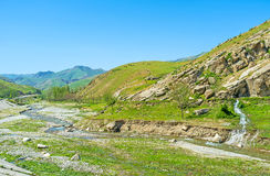 Travel to Pamir-Alay mountains Stock Image