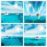 Travel to paradise collection Royalty Free Stock Photos