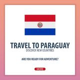 Travel to Paraguay. Discover and explore new countries. Adventure trip. Stock Images