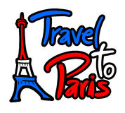 Travel to Paris message Royalty Free Stock Image